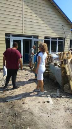 У Покровському районі перевірено хід ведення робіт по реалізації проекту будівництва Новоолександрівської амбулаторії