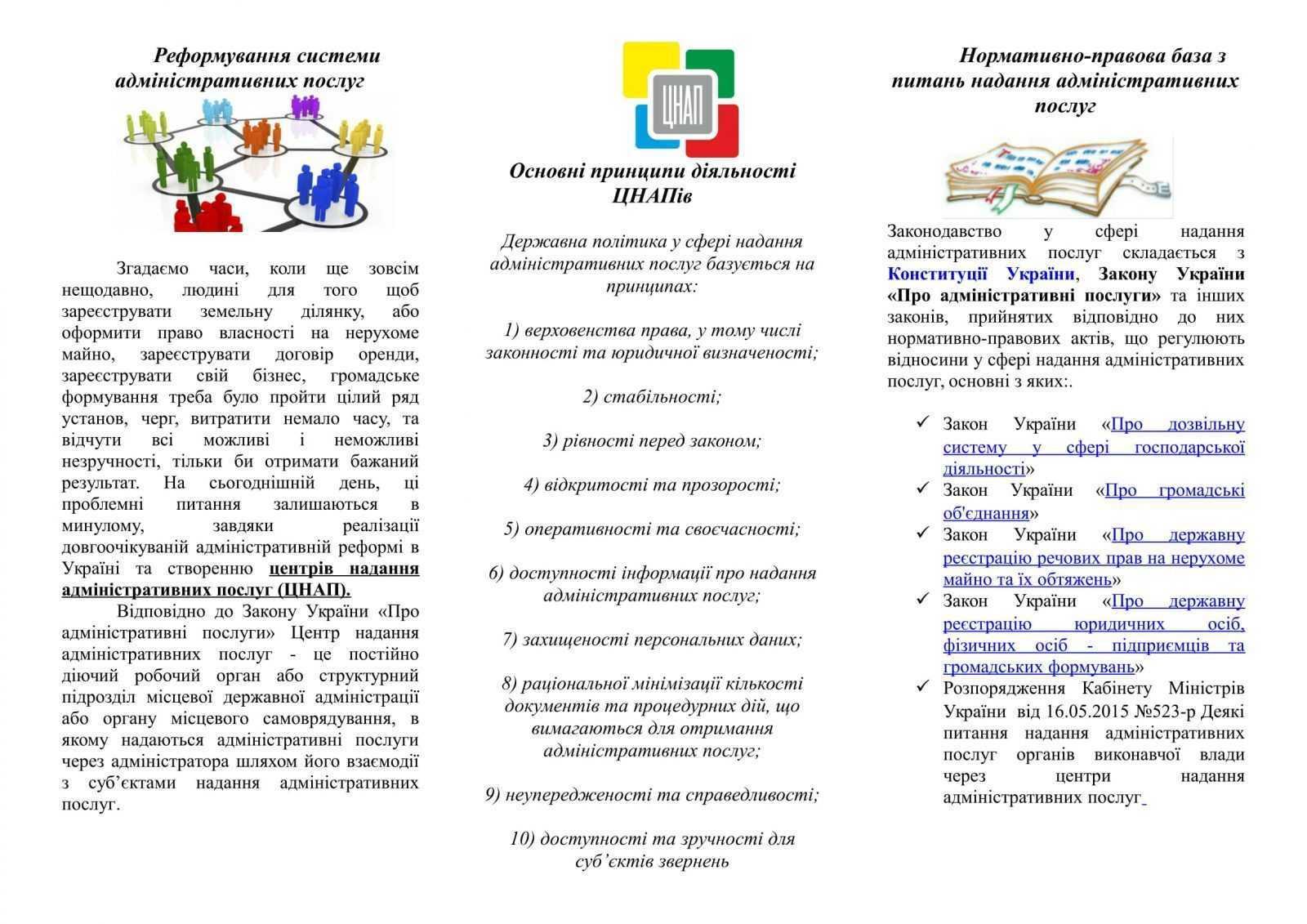 Broshura TSNAP 1 1 - АДМІНІСТРАТИВНІ ПОСЛУГИ в сучасних умовах