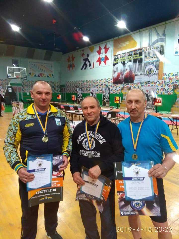 Фінальні змагання VIII Всеукраїнських ігор ветеранів спорту пам'яті М.М.Баки з гирьового спорту
